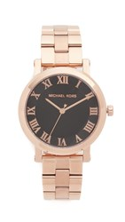 Michael Kors Norie Watch Rose Gold Black