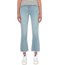 Maje Paxi Slim Fit Mid Rise Cropped Jeans Blue