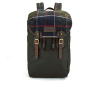 Barbour Men's Tartan And Wax Backpack Olive