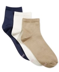 Hanes Women's Comfort Soft Ankle Socks 3 Pack Khaki
