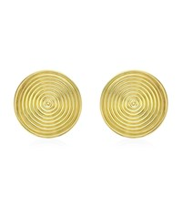Theo Fennell Gold Whip Disc Earrings Female