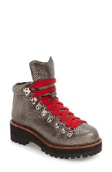 Jeffrey Campbell Women's 'Explorer' Platform Hiker Boot Pewter Leather