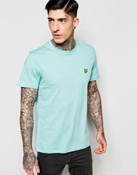 Lyle And Scott T Shirt With Eagle Logo In Mint Marl Mint Green