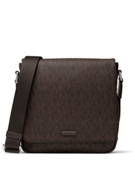 Michael Kors Jet Set Medium Flap Messenger Bag Brown