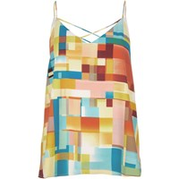 River Island Womens Yellow Print Strappy Cami