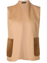 The Row Stand Up Collar Gilet Brown