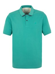 Racing Green Plain V Neck Regular Fit Polo Shirt Green