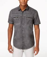 Inc International Concepts Men's Cowabunga Short Sleeve Shirt Only At Macy's Deep Black