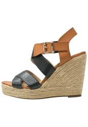 Xti Wedge Sandals Black