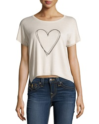 Central Park West Knit Two Tone Graphic Top Blush Black