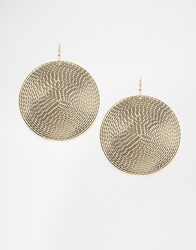 Designsix Disc Drop Earrings Gold