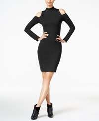 Bar Iii Cold Shoulder Bodycon Dress Only At Macy's Anthracite
