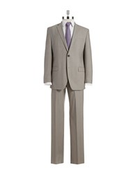 Andrew Marc New York Two Piece Wool Suit Tan