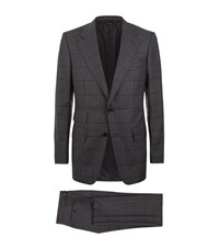 Tom Ford Window Check Windsor Suit Male Grey