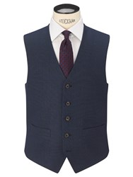 Chester Barrie By Birdseye Tailored Suit Waistcoat New Blue