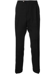 Raf Simons Tapered Tailored Trousers Black