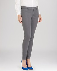 Ted Baker Anna Waxed Skinny Jeans In Mid Grey