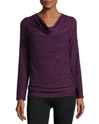 Marc New York Cowl Neck Performance Tunic Ripe Fig