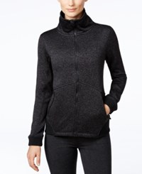 Calvin Klein Performance Sweater Fleece Jacket Black Charcoal