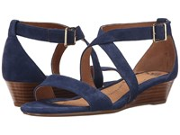 Sofft Innis Denim King Suede Women's Wedge Shoes Navy