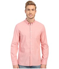 Kenneth Cole Sportswear Long Sleeve Button Down End On End Blaze Combo Men's Long Sleeve Button Up Pink