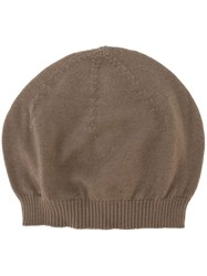 Rick Owens Knit Beanie Nude And Neutrals
