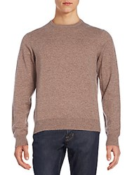 Saks Fifth Avenue Donegal Cashmere Sweater Tan Combo