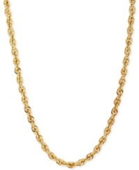 Macy's Rope Chain Necklace 4.4 Mm In 14K Gold Yellow Gold