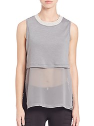Koral Lucid Double Layer Top Sage