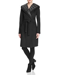 Dawn Levy Paige Down Lined Wrap Coat Black
