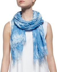 Lafayette 148 New York Marbleized Hues Scarf Ice Water Multi