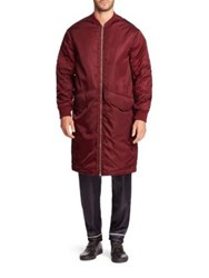 3.1 Phillip Lim Quilted Sleeve Ma 1 Coat Burgundy
