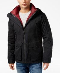Guess Men's Zip Out Two In One Jonathan Jacket Jet Black Multi