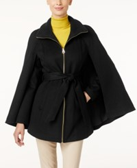 Laundry By Shelli Segal Belted Cape Coat Only At Macy's Black