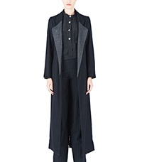 Emiliano Rinaldi Long Diagonal Coat Black
