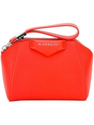 Givenchy 'Antigona' Clutch Yellow And Orange