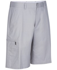 Greg Norman For Tasso Elba Big And Tall 5 Iron Performance Golf Shorts Silver