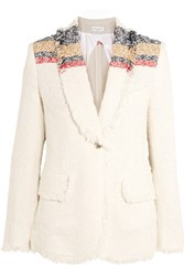 Sonia Rykiel Boucle Tweed Jacket Off White