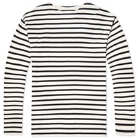 Mhl By Margaret Howell Mhl. By Margaret Howell Long Sleeve Matelot Naval Stripe Tee Ecru And Black