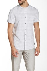 Kenneth Cole Check Print Short Sleeve Shirt White