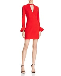Lucy Paris Bell Sleeve Mini Dress 100 Bloomingdale's Exclusive Red