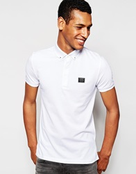 Antony Morato Polo Shirt With Metal Collar Tips White