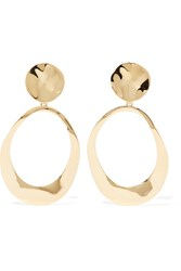 Ippolita Goddess Hammered 18 Karat Gold Earrings
