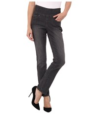 Jag Jeans Petite Peri Pull On Straight In Thunder Grey Thunder Grey Women's Gray