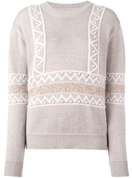 Chinti And Parker Star Intarsia Sweater Nude And Neutrals