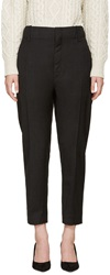 Etoile Isabel Marant Grey Relaxed Fit Senda Trousers