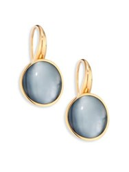 Vhernier Giotto Piccolo Rock Crystal Mother Of Pearl Black Jade And 18K Rose Gold Earrings Rose Gold Multi