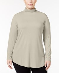 Jm Collection Plus Size Turtleneck Top Only At Macy's Stone