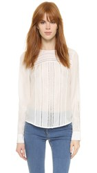 Veronica Beard Coral Gables Crew Neck Top White
