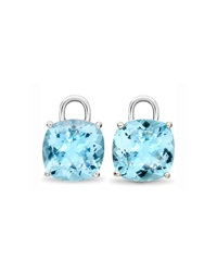 Eternal 18K White Gold Blue Topaz Earring Drops Kiki Mcdonough
